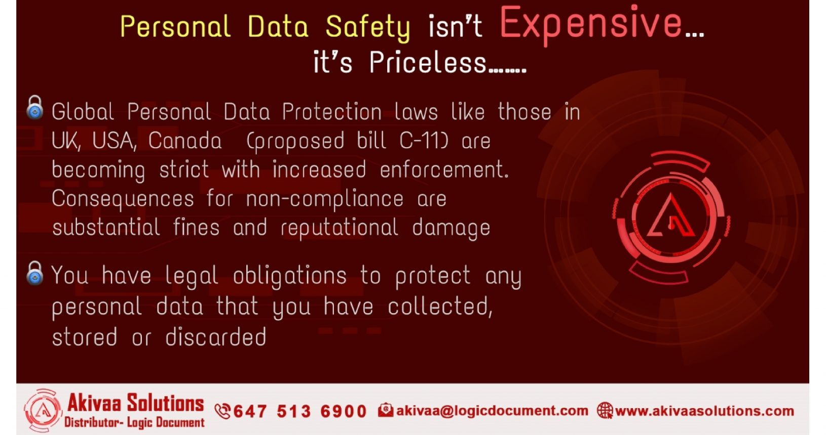 Personal Data Safety is Priceless