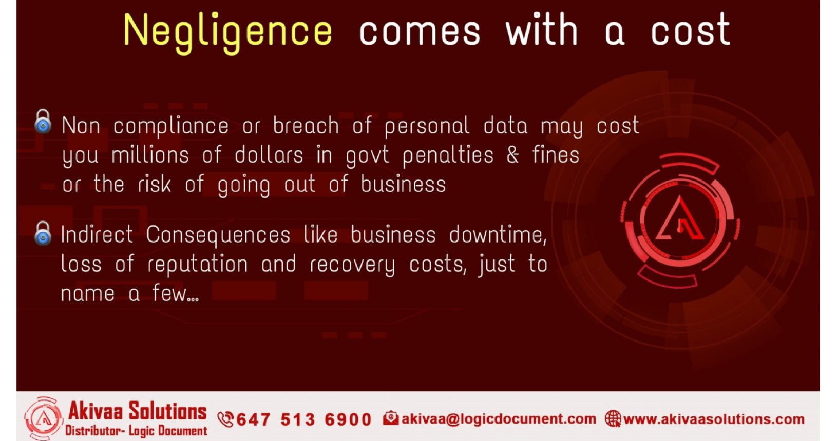 negligence comes with a cost